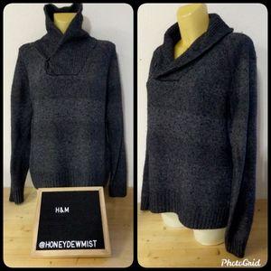H&M Dark Grey High Neck Sweater